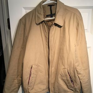Khaki Tommy Hilfiger light jacket. Worn once.